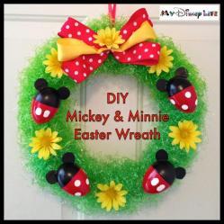 Disney Life Diy Project Mickey Minnie Easter Wreath