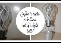 Diy Air Balloons Out Light Bulbs