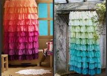 Diy Anthropologie Flamenco Shower Curtain Sunshine