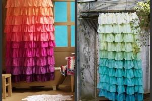 Diy Anthropologie Flamenco Shower Curtain Sunshine