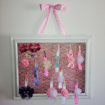 Diy Baby Headbands Bows Frame Holder Our Crafty Mom
