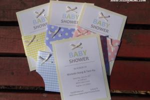 Diy Baby Shower Invitation Kits Homemade Party Design