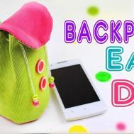 Diy Backpack Phone Case Easy Tutorial Crafts