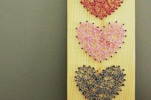 Diy Baker Twine Heart String Art