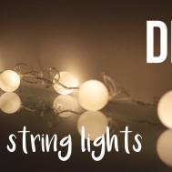 Diy Ball String Lights Roomdecor