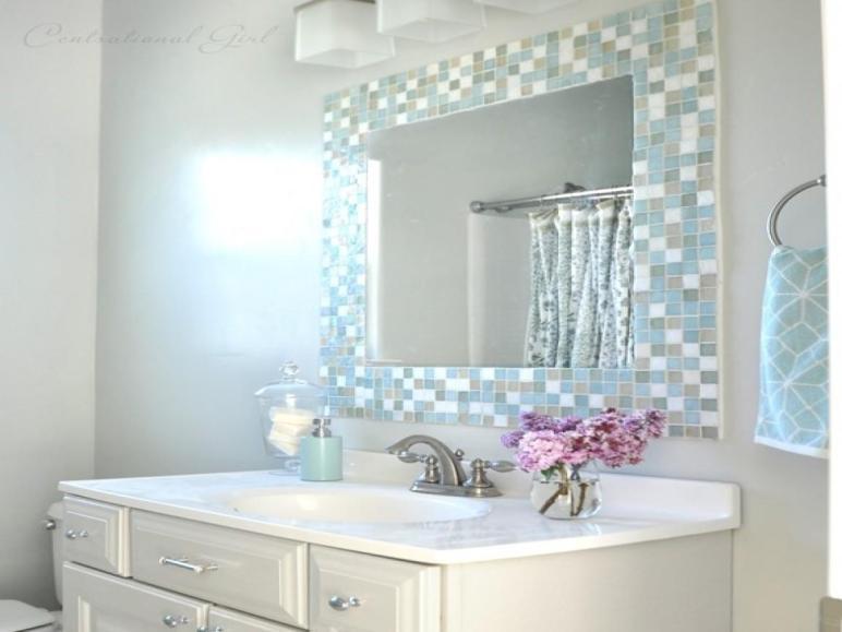 Diy Bathroom Mirror Tile Mosaic Ideas