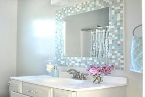 Diy Bathroom Mirror Tile Mosaic Ideas