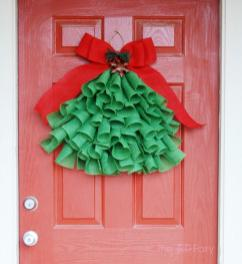 Diy Burlap Christmas Tree Wall Hanging Tiptoe Fairy