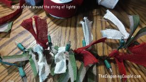 Diy Burlap Ribbon Lighted Garland Christmas Decoration