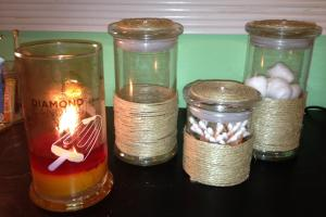Diy Candle Jar Organizer Diamond