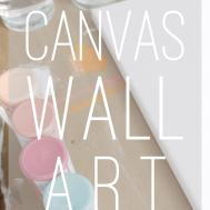 Diy Canvas Wall Art Living Gray Life