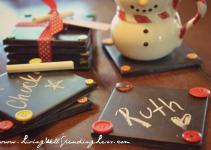 Diy Chalkboard Coaster Set Living Well Spending Less