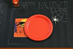 Diy Chalkboard Runner Halloween Casarella