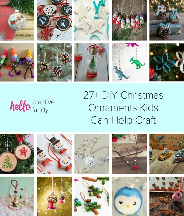 Diy Christmas Ornaments Kids Can Craft Hello
