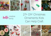 Diy Christmas Ornaments Kids Can Craft Hello