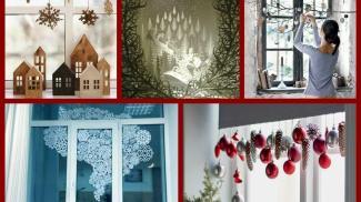 Diy Christmas Window Decorations Ideas Winter Decorating