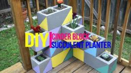 Diy Cinder Block Succulent Planter