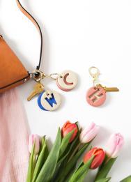 Diy Clay Letter Keychain Sugar Cloth Accessories
