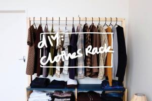 Diy Clothes Rack Shrapnel Chic