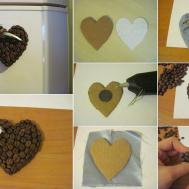 Diy Coffee Bean Heart Fridge Magnets Craft Projects