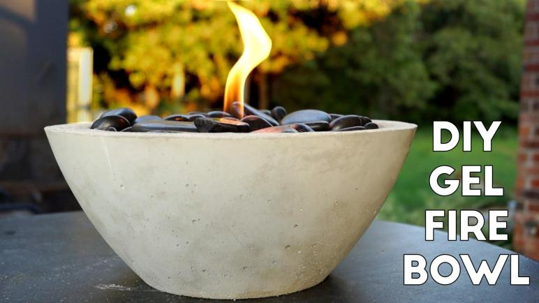 Diy Concrete Gel Fire Pit Easy Modern Builds