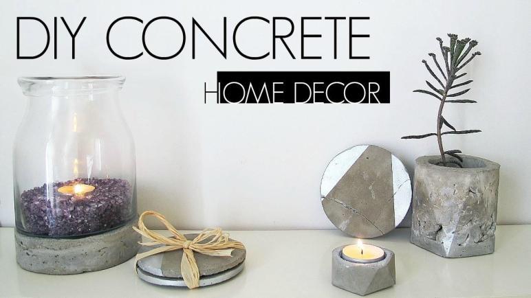Diy Concrete Home Decor
