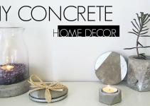 Diy Concrete Home Decor