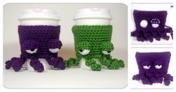 Diy Crochet Grumpy Octopus Coffee Cup Cozy Usefuldiy