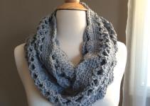 Diy Crochet Pattern Spring Cowl Scarf Light Weight