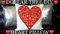 Diy Dollar Tree Valentine Day Heart Pillow 2017 Easy