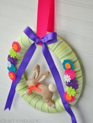Diy Easter Wreath Craft Maniac