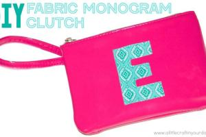Diy Fabric Monogram Clutch