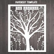 Diy Family Tree Papercut Template Personalised