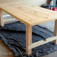 Diy Farmhouse Dining Table First Woodworking Project