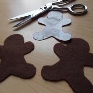 Diy Felt Gingerbread Ornament Girlish Whims