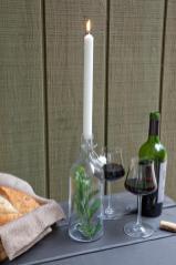 Diy Festive Glass Bottle Candleholder