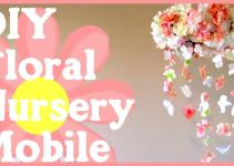 Diy Floral Nursery Mobile Simple Quick Tutorial