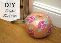 Diy Floral Painted Pumpkin Daisychains Dreamers