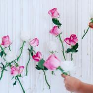 Diy Floral Vase Wall Hanging Using Rose Eucalyptus