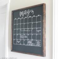 Diy Framed Wooden Chalkboard Calendar Beckham Belle