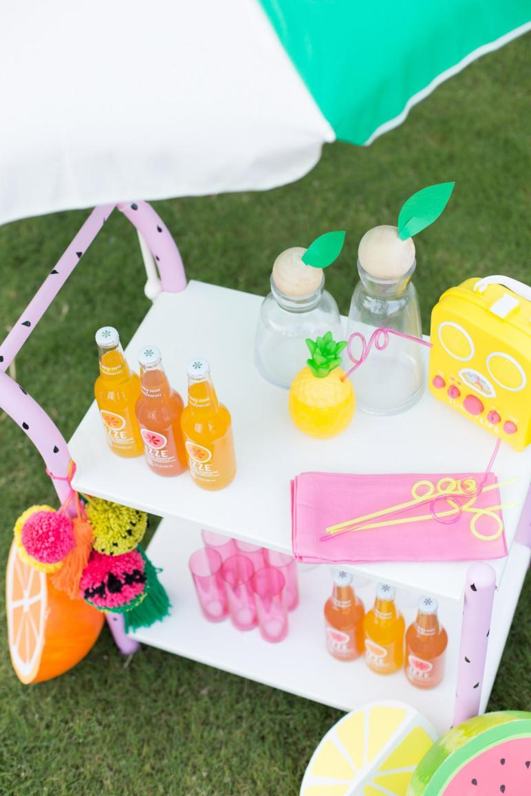 Diy Fruity Summer Bar Cart Makeover Studio