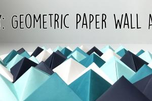 Diy Geometric Paper Wall Art Jam Blog
