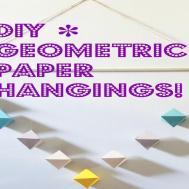 Diy Geometric Paper Wall Hanging