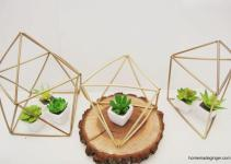 Diy Geometric Planters Homemade Ginger