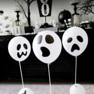 Diy Ghost Balloon Floaters Halloween Decorations Soiree