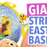 Diy Giant String Easter Egg Basket Handmade