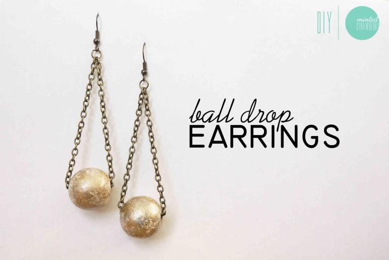 Diy Gilded Ball Drop Earrings Minted Strawberry