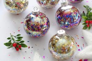 Diy Glitter Confetti Ornaments Blissmakes