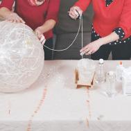 Diy Globe Light Made Balloon String Paper Mache
