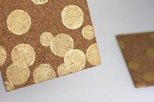 Diy Gold Confetti Cork Board Sister Suitcase